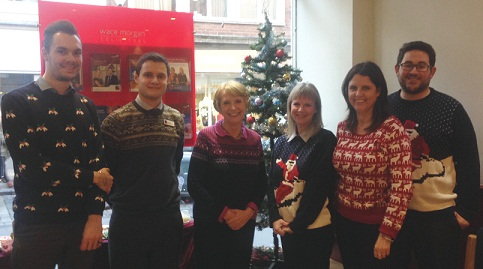 From left: Sam Briggs, Byron Kuiter, Diana Packwood, Karen Ashton, Sarah Richards, Simon Markham.